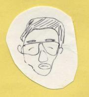 私が描いたK雄さんの似顔絵