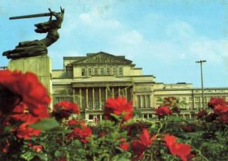 国立歌劇場とニケの像(絵葉書)