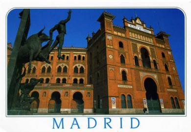 Plaza Monumental de las Ventas横(絵葉書)