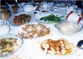 香港食事テーブル