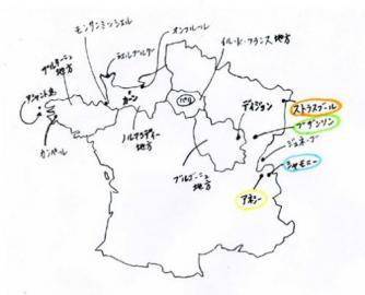 フランスいったとこ地図