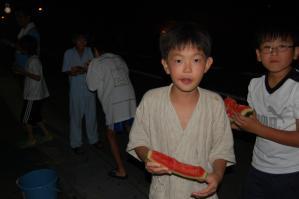 2011年度夏合宿 in 波崎|波崎ジュニアカップ|茨城県神栖市波崎|学年対抗すいか割り大会|グラウンドサイドインウオトミ「魚富」