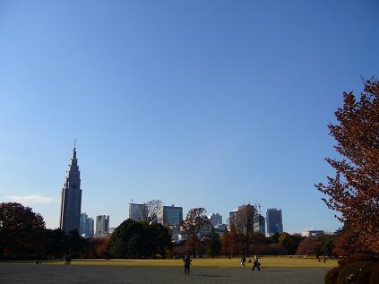 新宿の空。