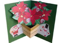 クリスマスカード ポインセチア
