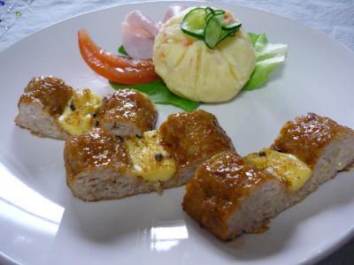 鶏挽肉の照焼き