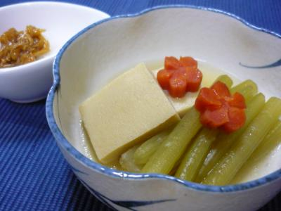 ふき・こうや豆腐