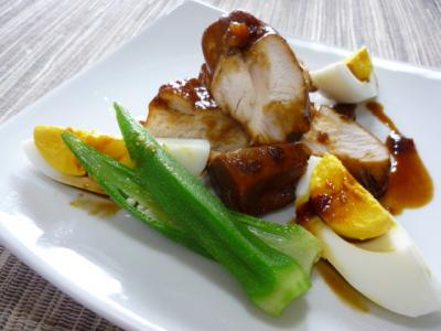 鶏肉の黒酢煮
