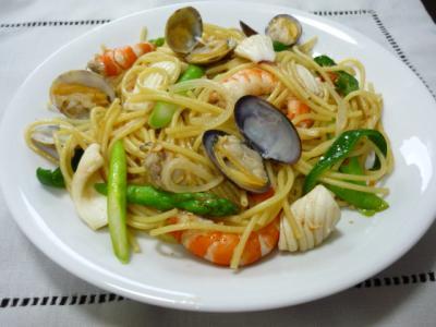 魚介パスタ和風味