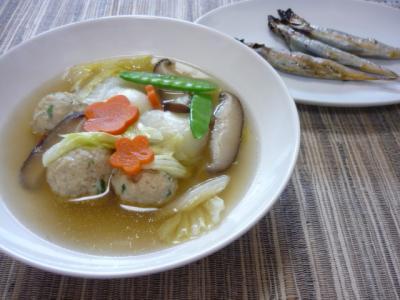 鶏団子スープ