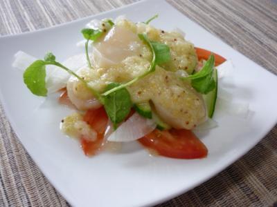 ホタテと大根サラダ