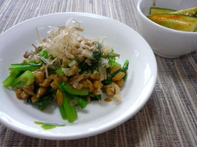 小松菜と納豆和え