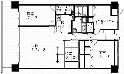 中央区万代の分譲賃貸マンション