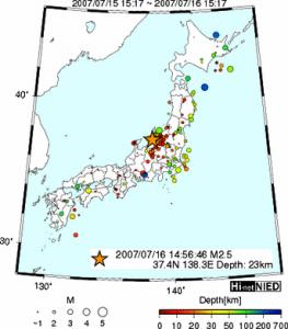 地震時日本地図