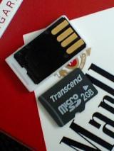 極小microSDカードリーダー