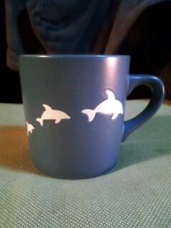 来場記念品イルカのコップ