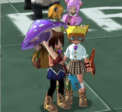 紫キノコ傘