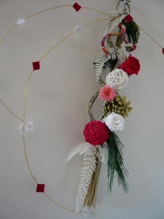 0912プリザでつくる、お正月のドア飾り