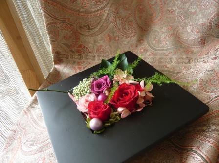 2010.4母の日に贈るプリザのフレームアレンジp4