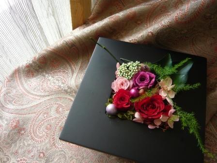 2010.4母の日に贈るプリザのフレームアレンジp2