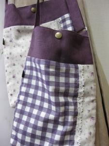 紫ギンガム