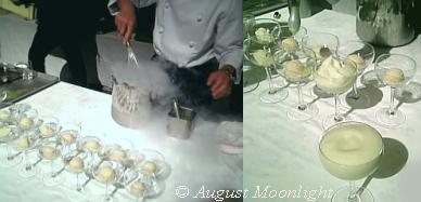 メロン果汁を急速冷凍!! シュワシュワのメロンソーダの泡!