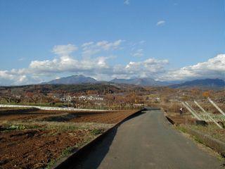 茅ヶ岳~黒富士の遠望