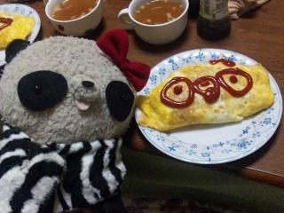 晩ご飯のオムライス
