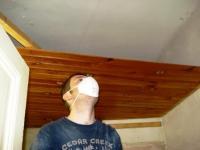 demolition bathroom ceiling