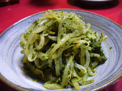 モヤシ青菜和え