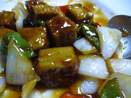 生麩の酢豚風