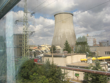A nuclear power plant in town