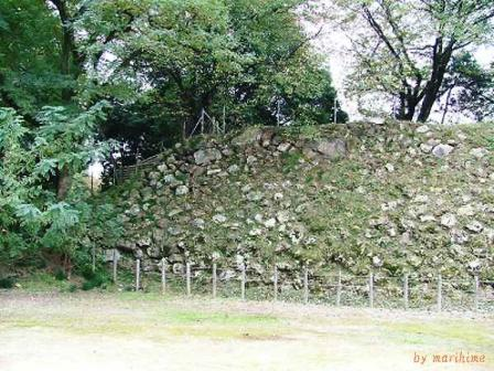 加納城本丸北面の石垣