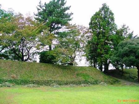 加納城本丸内の土塁