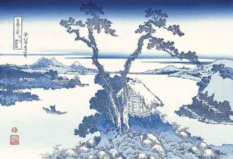 葛飾北斎「信州諏訪湖」(富嶽三十六景)