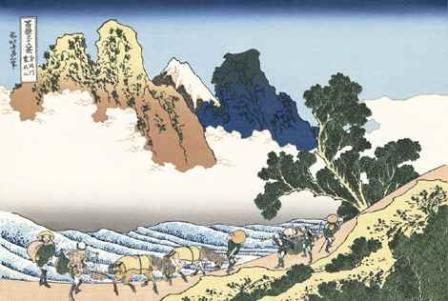 葛飾北斎「身延川裏不二」(富嶽三十六景)