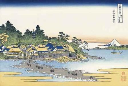 葛飾北斎「相州江の島」(富嶽三十六景)