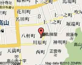 高山陣屋付近地図