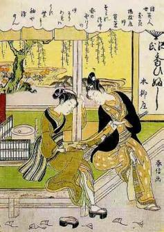 鈴木春信 「浮世美人寄花 楊枝屋婦」