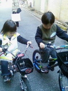 2008・11・22自転車兄妹