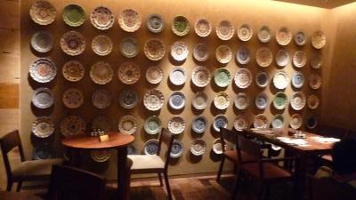 ホテル壁お皿