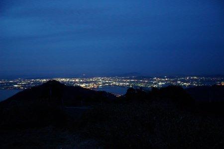 金甲山より岡山市