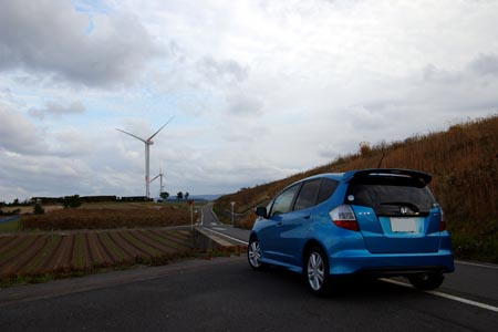 R9沿いの風車