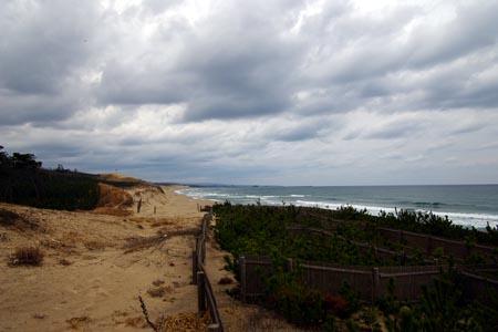 鳥取砂丘を東の砂浜より