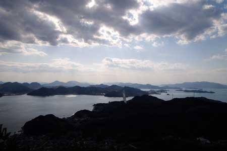 高見山より因島方面