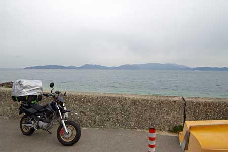 四国最北端より小豆島を望む