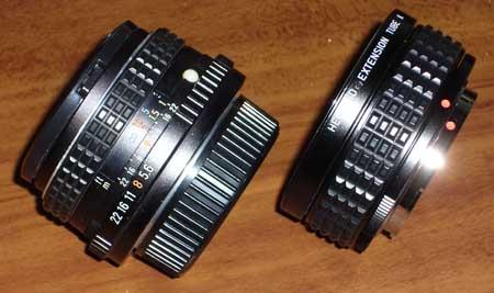 SMC PENTAX-M 28mm F2.8 + PENTAX ヘリコロイド接写リングK