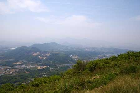 城山山頂より南西側