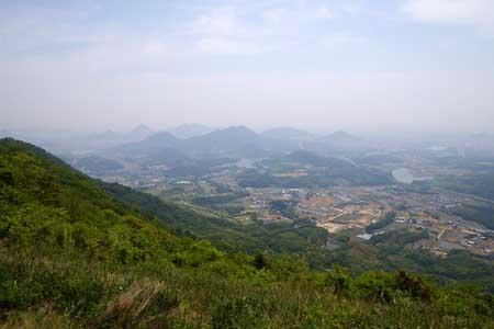 城山山頂より南東側