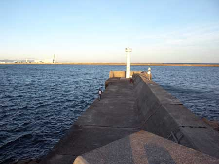 貯木場白灯台