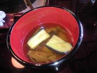 うかい鳥山 料理4 きのこ汁